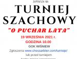 "TURNIEJ SZACHOWY ""O PUCHAR LATA"""